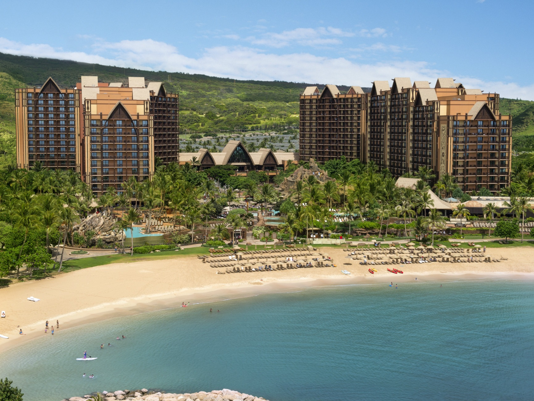 Disney's AULANI Resort (Hawaii) - Sitting along the beaches of the island of Oahu, Aulani is Disney's third stand-alone hotel and most relaxing vacation destination.