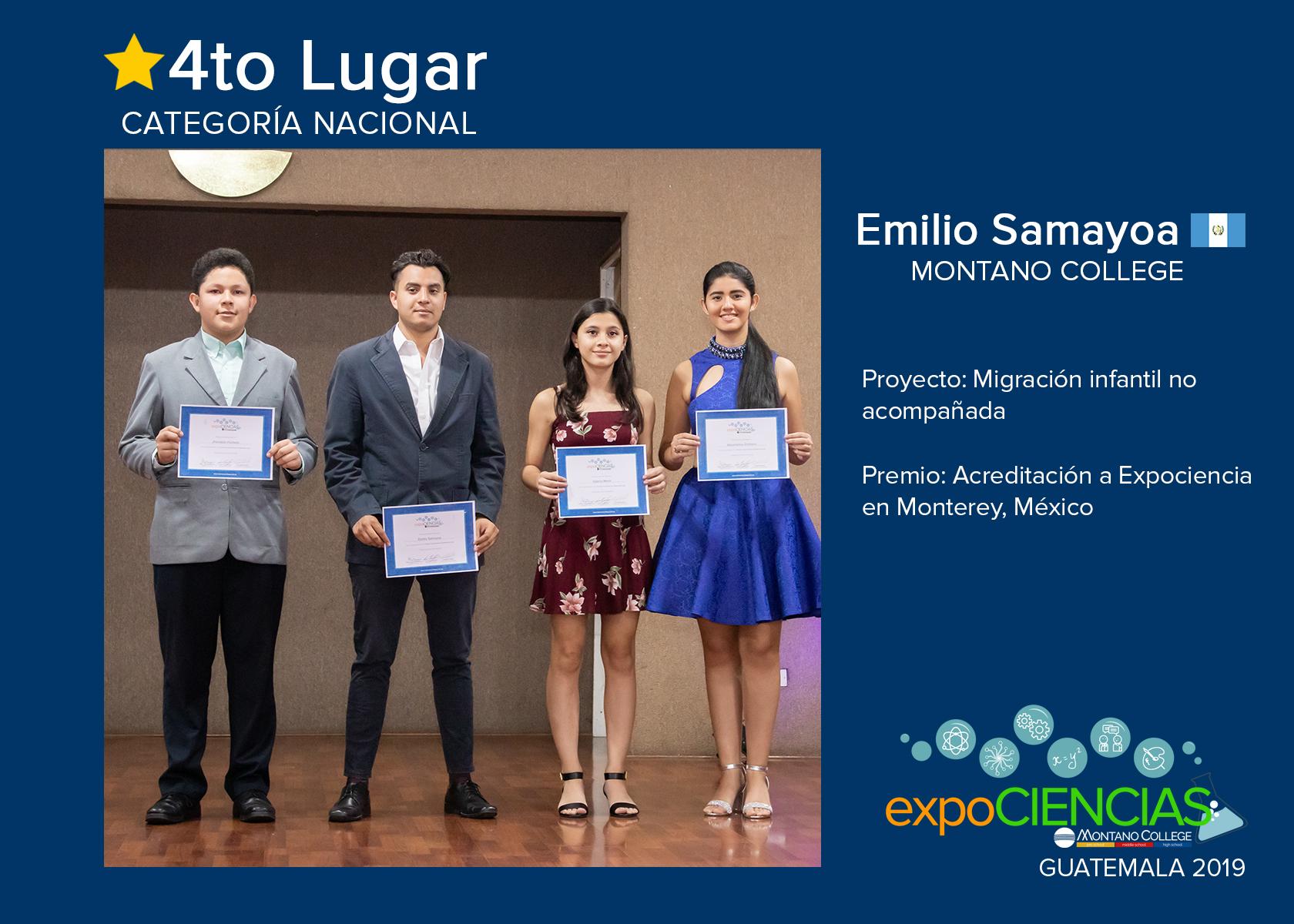 CUARTO LUGAR:  EMILIO SAMAYOA