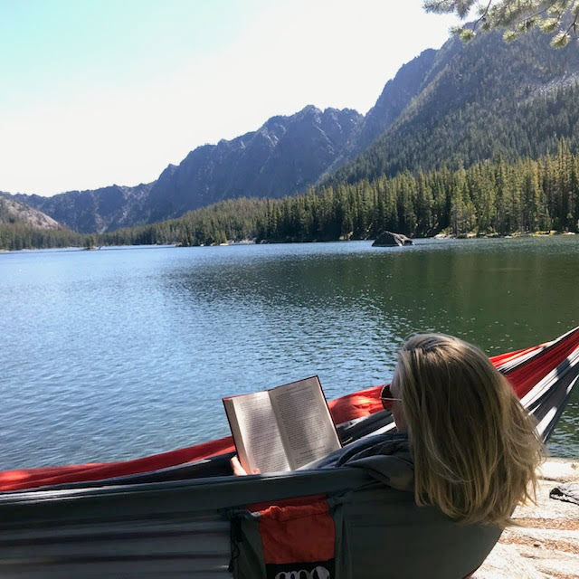 R & R at a nice alpine lake vista