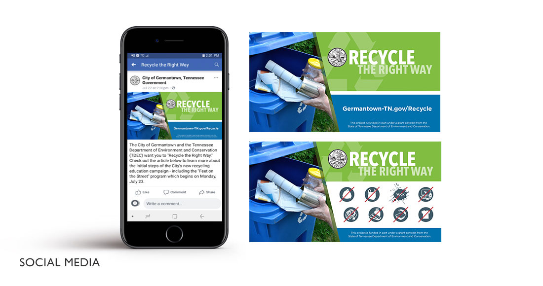 City of Germantown: Recycling Campaign: Social Media Graphics