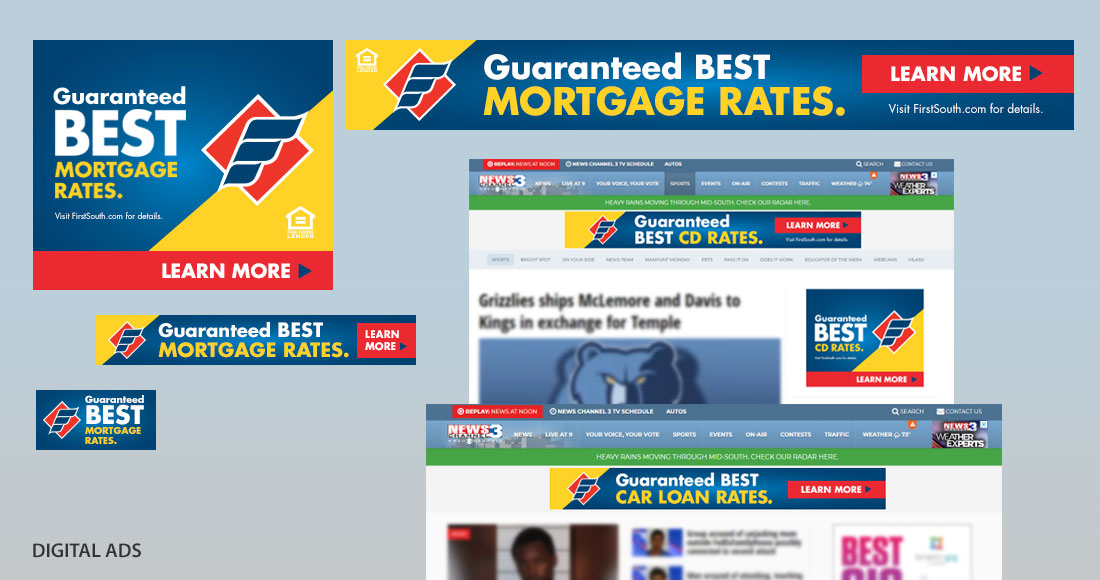 First South: Guaranteed Best Rates Campaign: Digital Ads