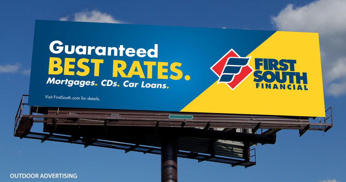 First South: Guaranteed Best Rates Campaign: Billboard