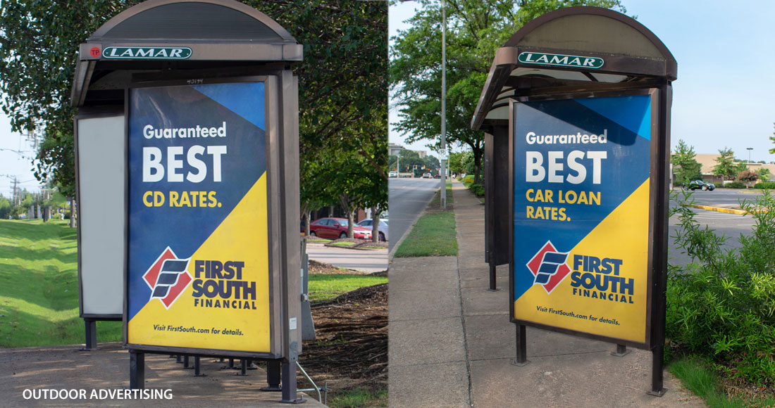 First South: Guaranteed Best Rates Campaign: Transit Shelter Posters