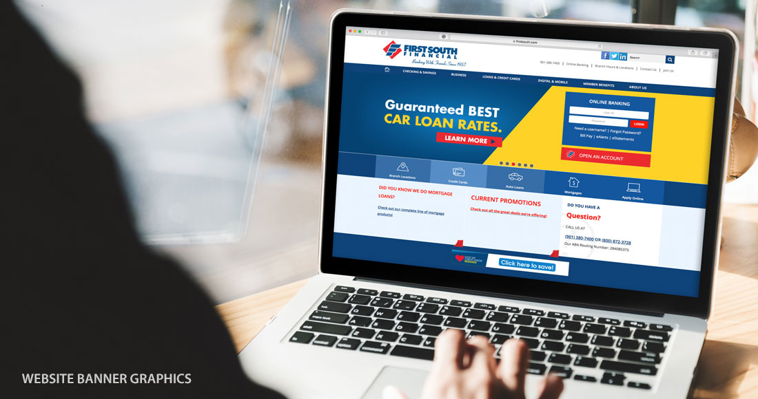 First South: Guaranteed Best Rates Campaign: Website Banner Graphics