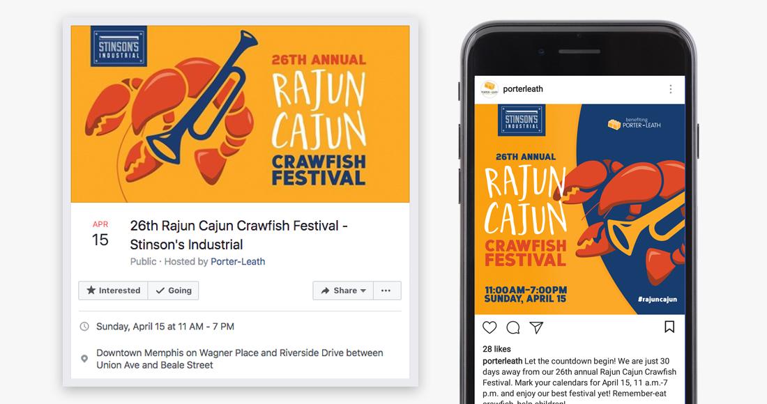 26th Annual Rajun Cajun Crawfish Festival: Social Media Graphics