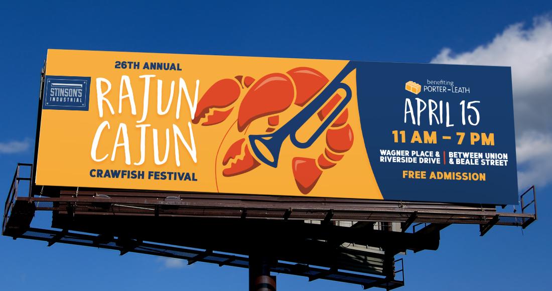 26th Annual Rajun Cajun Crawfish Festival: Billboard