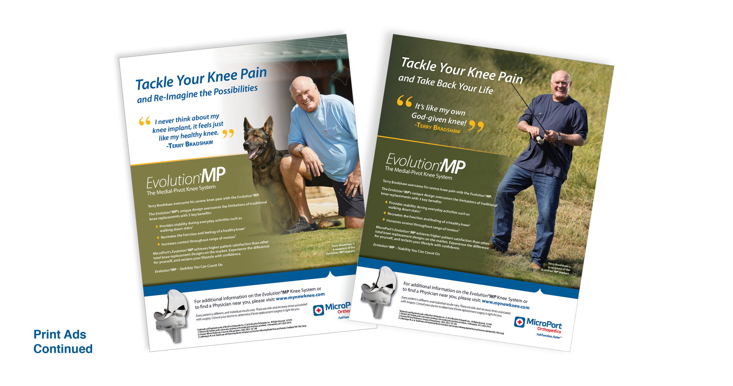 MicroPort: EvolutionMP Patient Marketing Campaign: Print Ads
