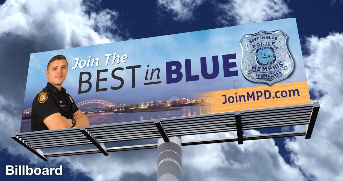 Memphis Police Department Recruiting Campaign: Billboard