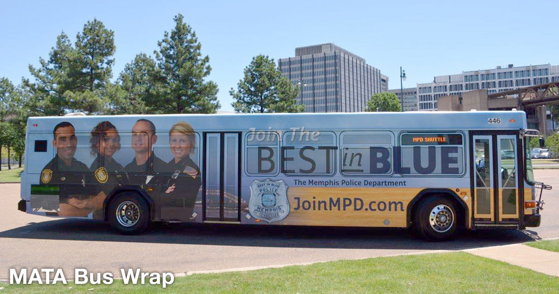 Memphis Police Department Recruiting Campaign: Bus Wrap