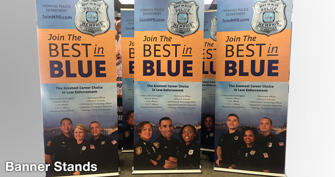 Memphis Police Department Recruiting Campaign: Bannerstands