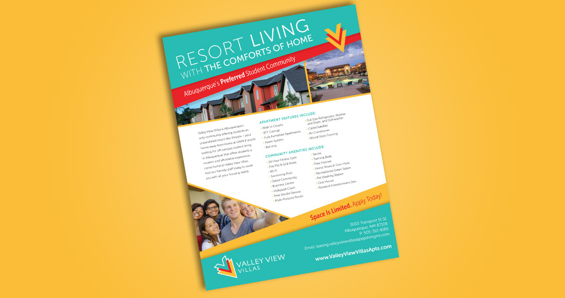 Valley View Villas: Rebranding: Print Ad