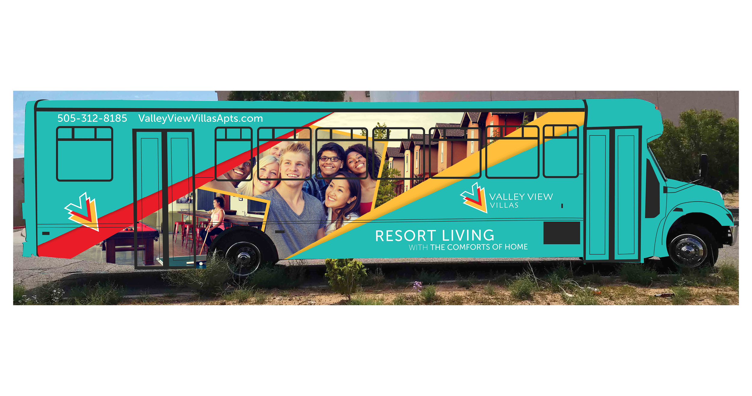 Valley View Villas: Rebranding: Bus Wrap