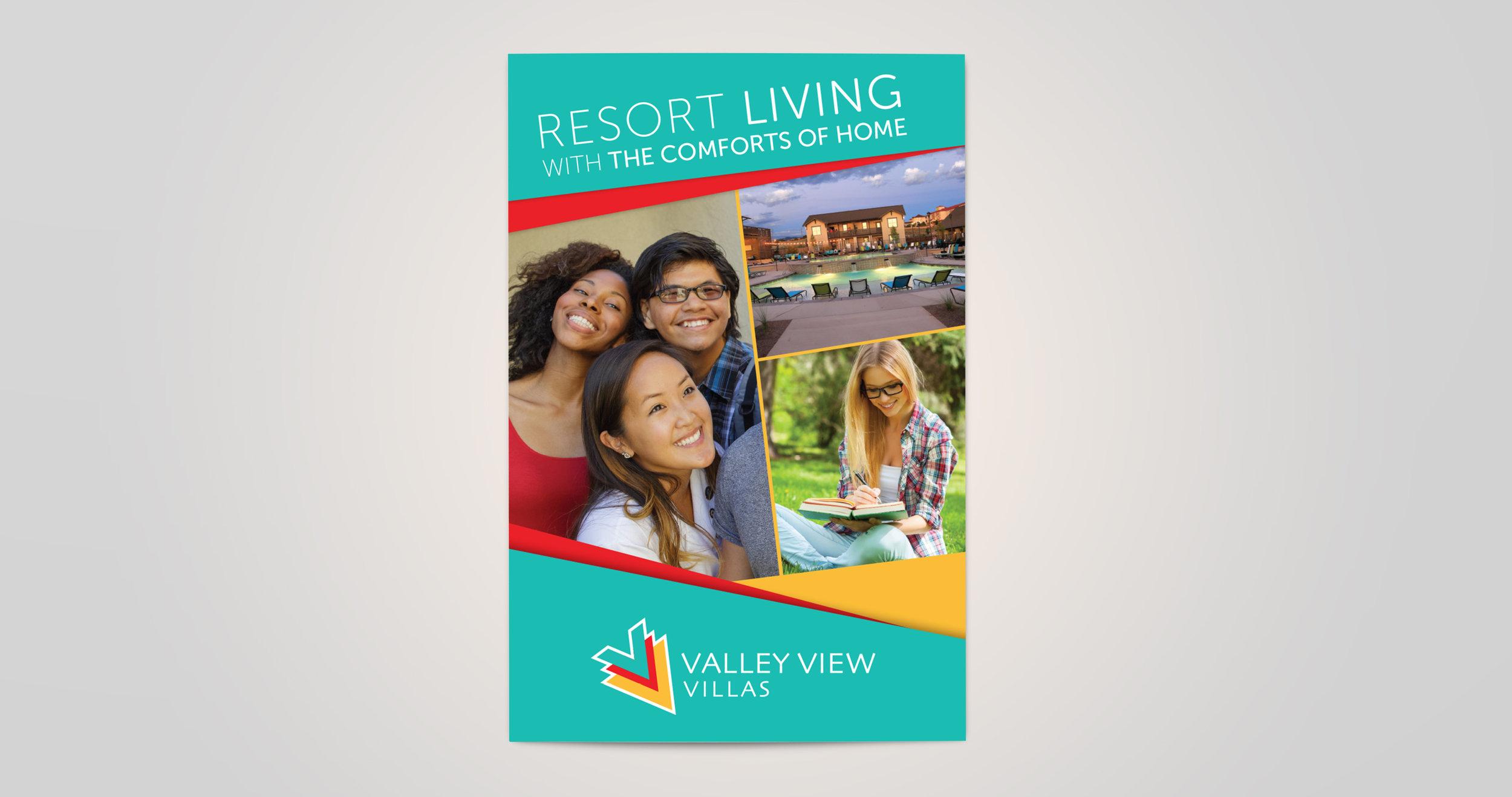 Valley View Villas: Rebranding: Brochure Cover