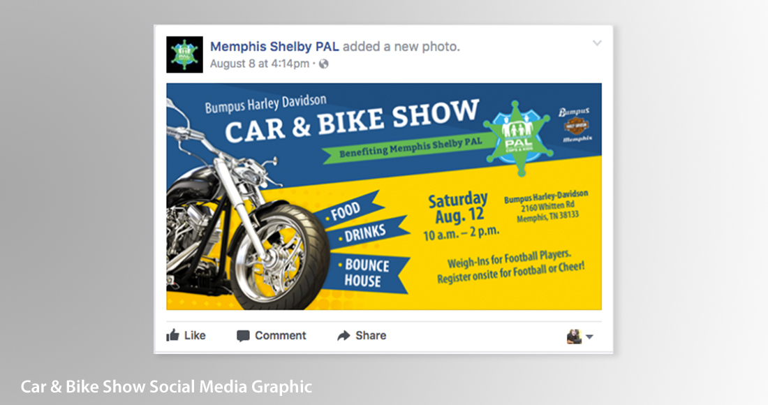 Memphis Shelby PAL: Branding: Social Media Graphics