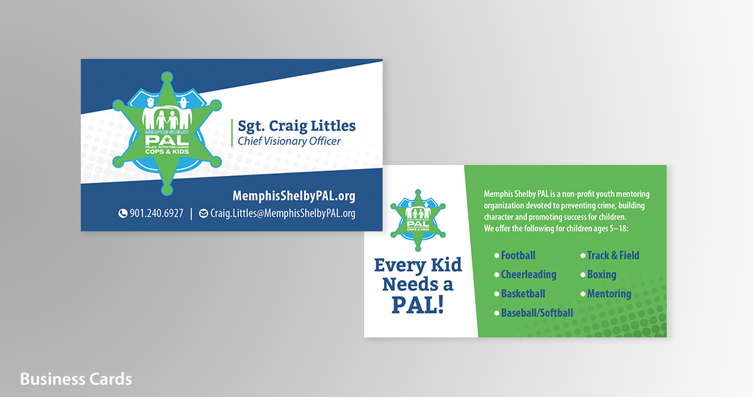 Memphis Shelby PAL: Branding: Business Card