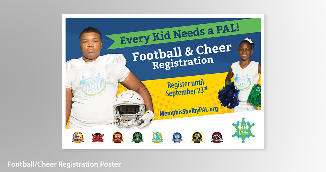 Memphis Shelby PAL: Branding: Registration Poster Design