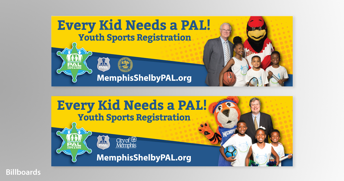 Memphis Shelby PAL: Branding: Billboards