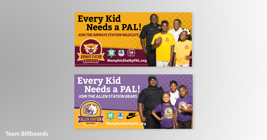Memphis Shelby PAL: Branding: Team Billboards