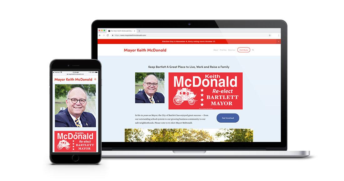 Mayor Keith McDonald Re-Election Website