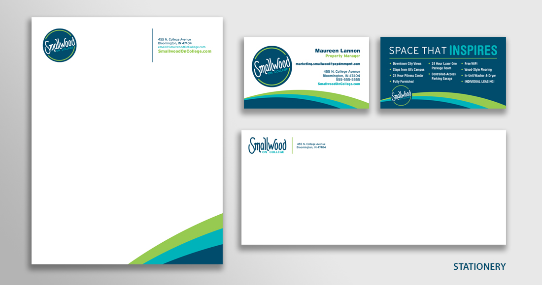 Smallwood on College Letterhead Package Design
