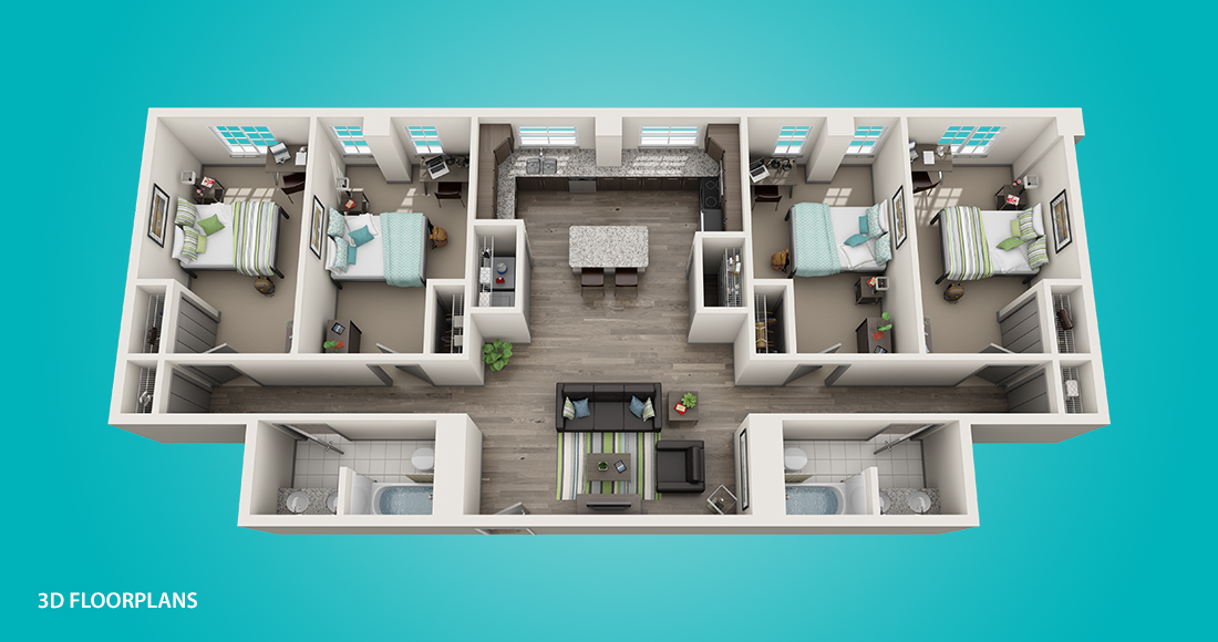 Smallwood on College 3D Floorplans