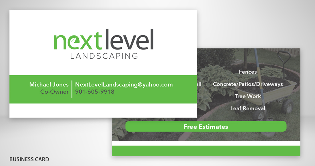 Next Level Landscaping: Branding: Business Card