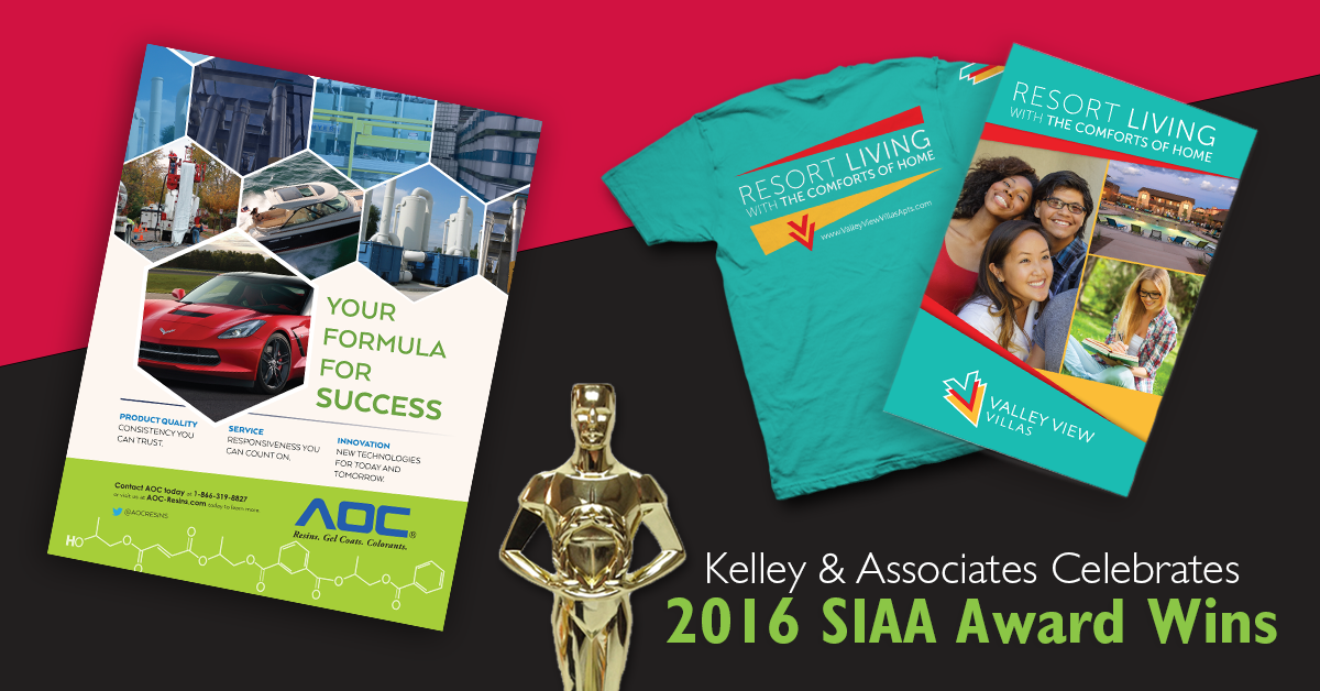 KELLEY & ASSOCIATES CELEBRATES 2016 SIAA AWARD WINS