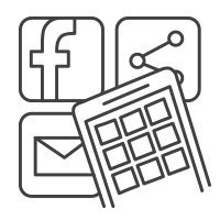 Digital and Social Media Icon