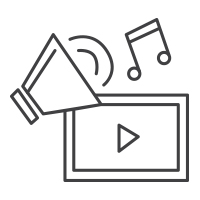 Video and Audio Production Icon