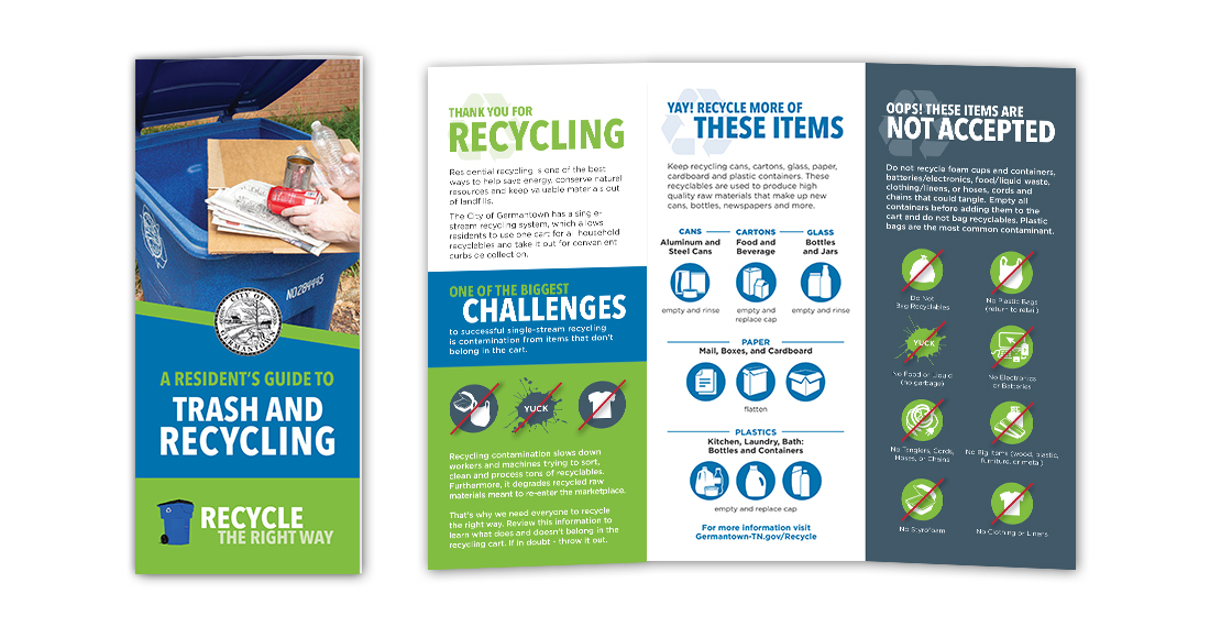 City of Germantown: Recycling Campaign: Brochure