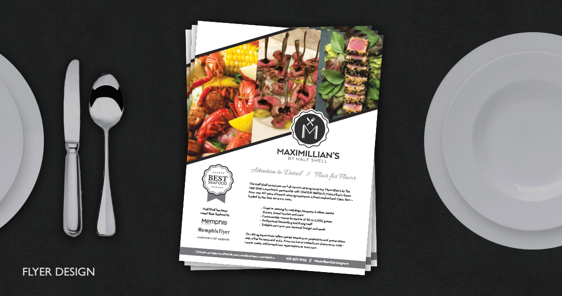 Maximillian's by Half Shell: Flyer Design