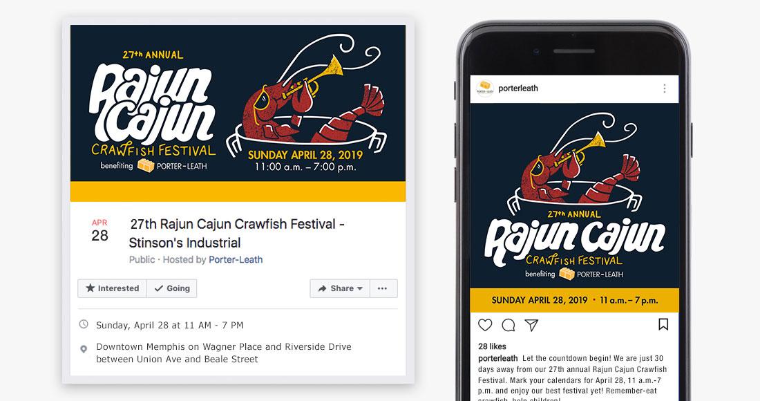 27th Annual Rajun Cajun Crawfish Festival Social Media Graphics