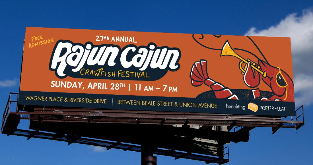 27th Annual Rajun Cajun Crawfish Festival Billboard Design