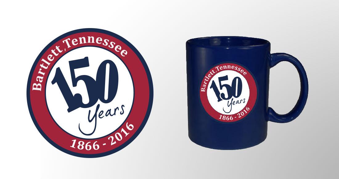 City of Bartlett: 150 Year Anniversary: Logo