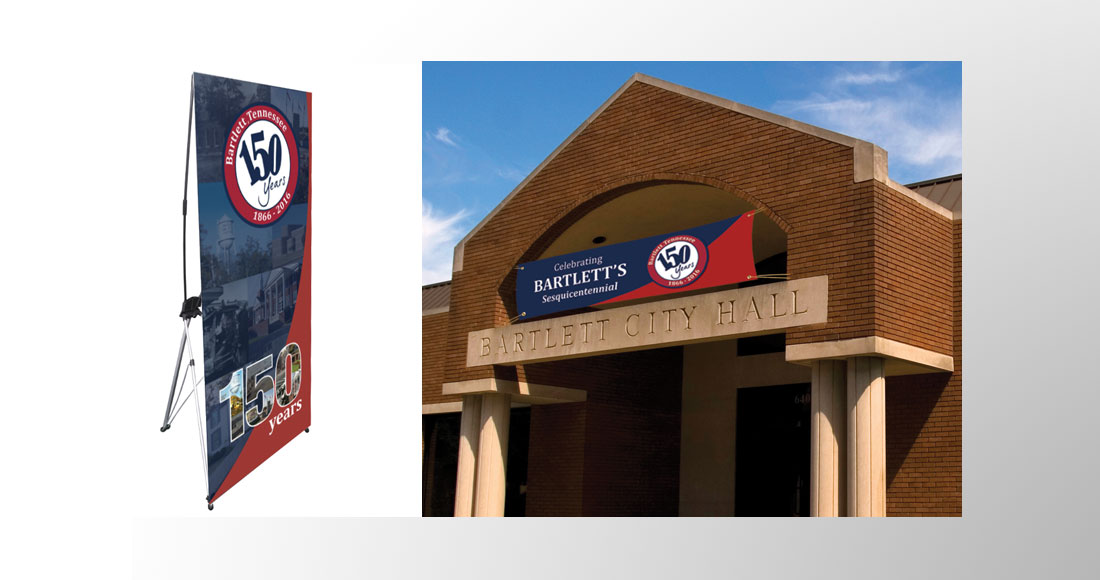 City of Bartlett: 150 Year Anniversary: Banners