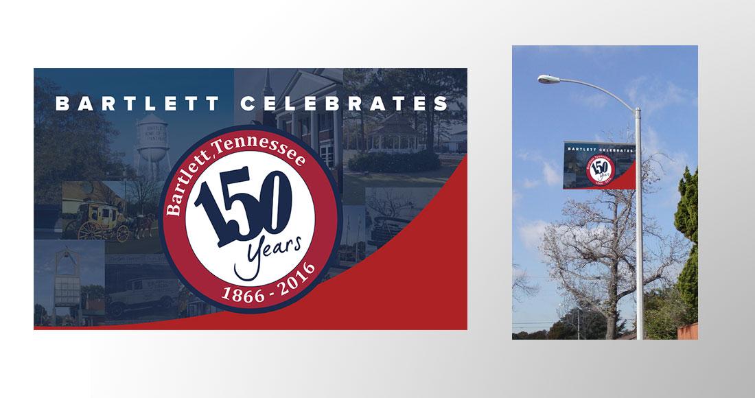 City of Bartlett: 150 Year Anniversary Graphics