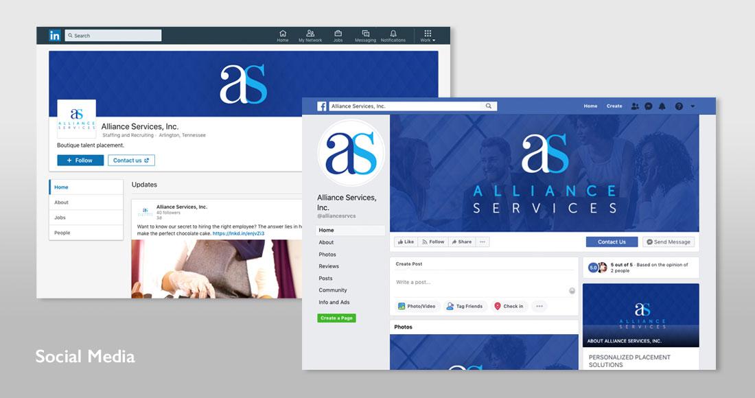 Alliance Services Social Media