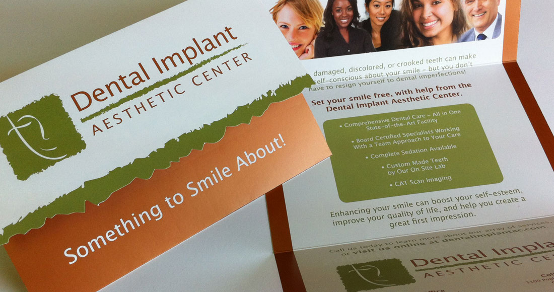 Dental Implant Aesthetic Center Mailer