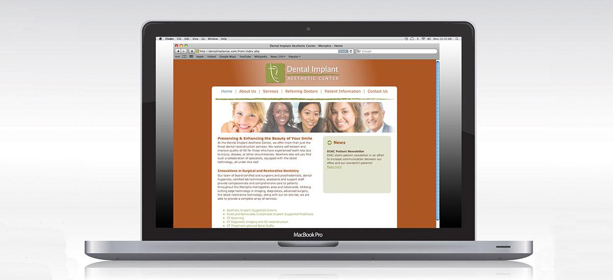 Dental Implant Aesthetic Center Website