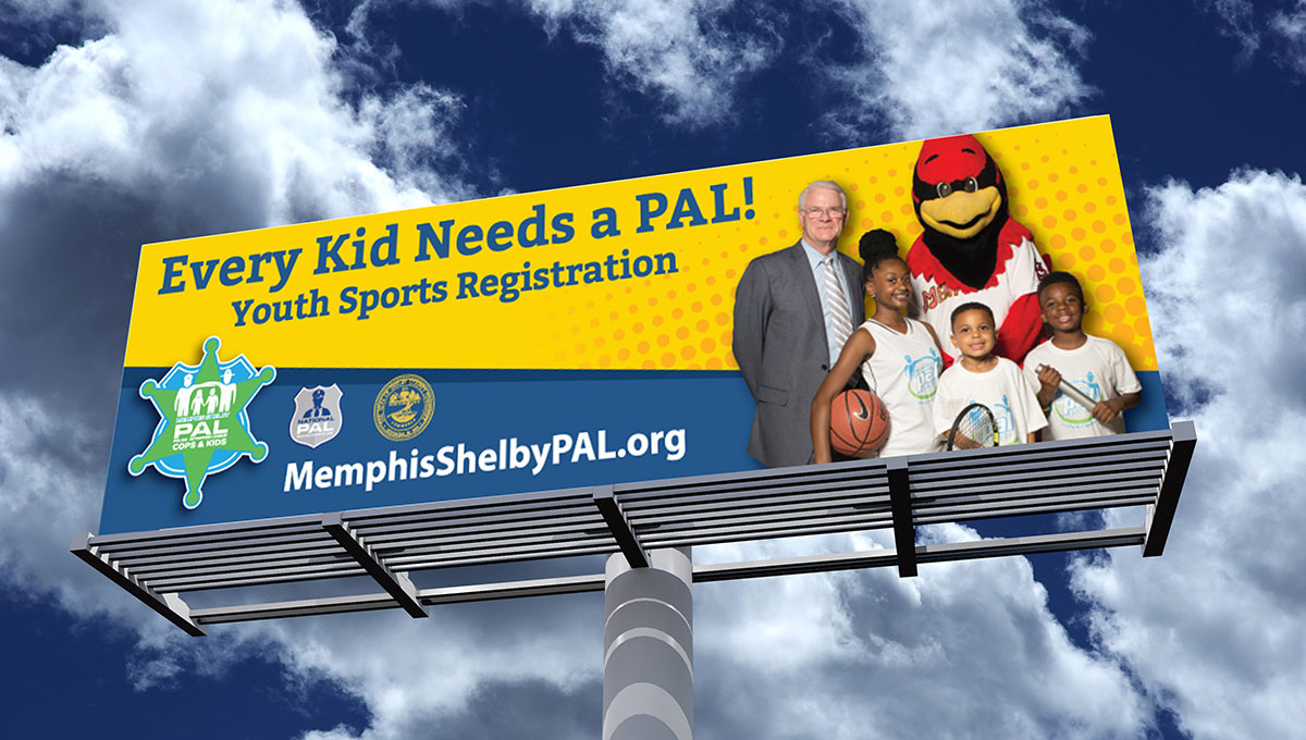 Memphis Shelby PAL: Branding: Billboard