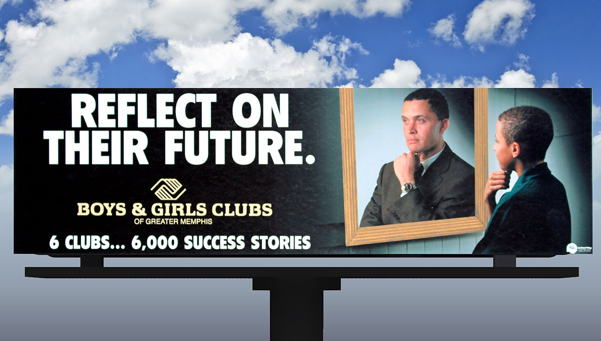 Boys & Girls Club of Greater Memphis Capital Fundraising Campaign: Reflect on Their Future Billboard