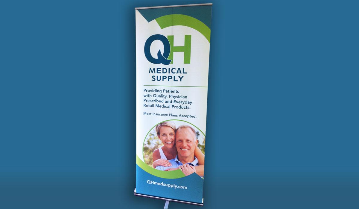 QH Medical Supply Branding: Bannerstand
