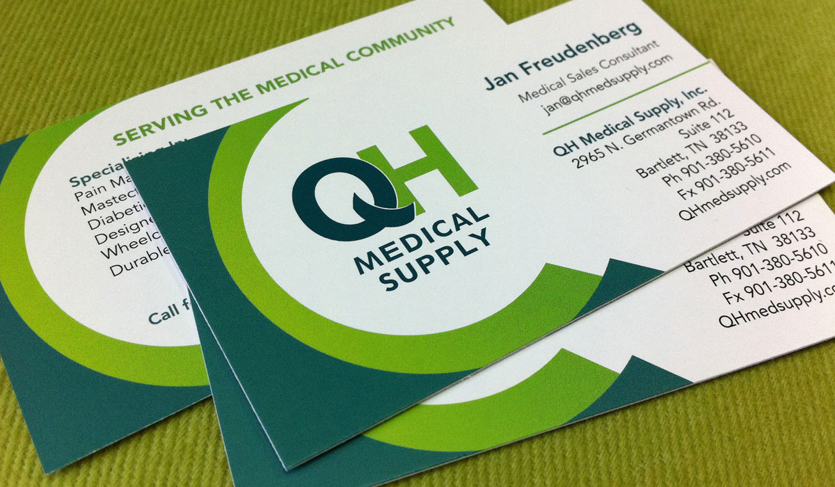 QH Medical Supply Branding: Business Cards