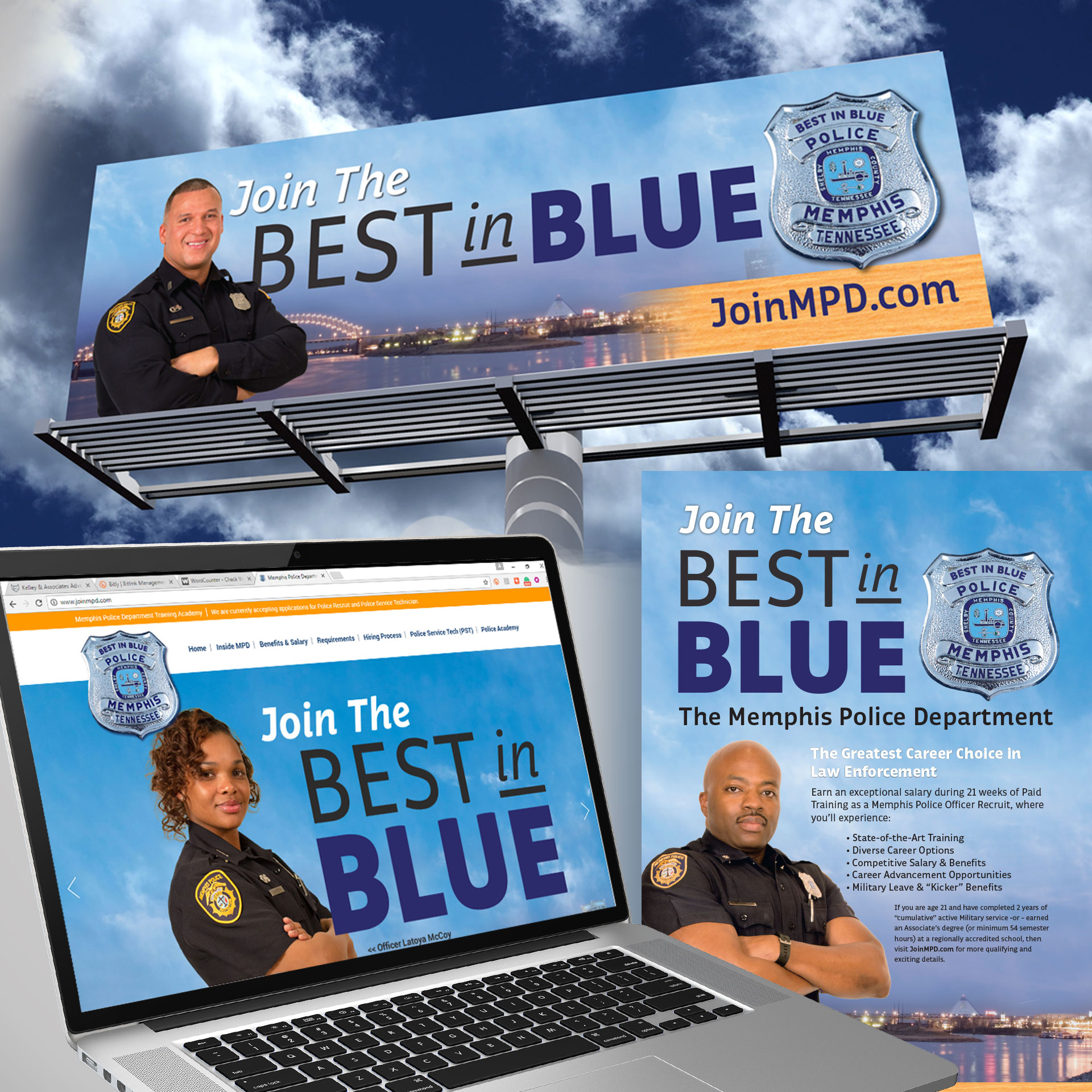 Memphis Police Department Recruiting Campaign Graphics
