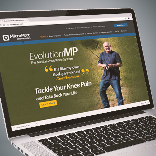 MicroPort Orthopedics EvolutionMP Knee System Website