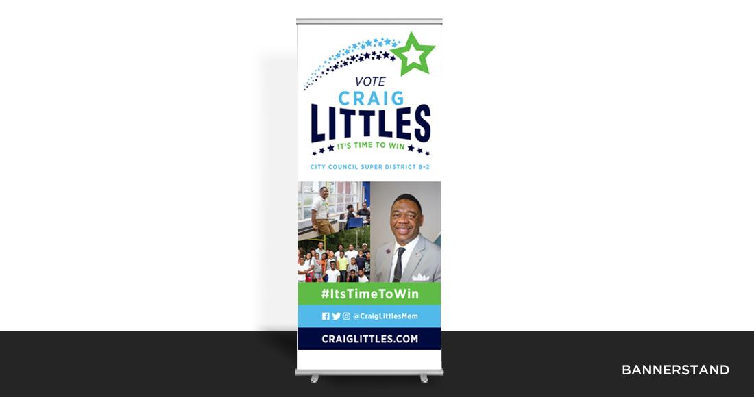 Craig Littles Campaign Bannerstand