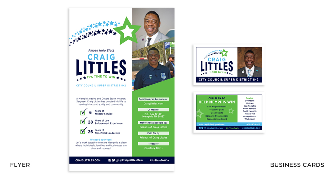Craig Littles Campaign Flyer and Business Cards