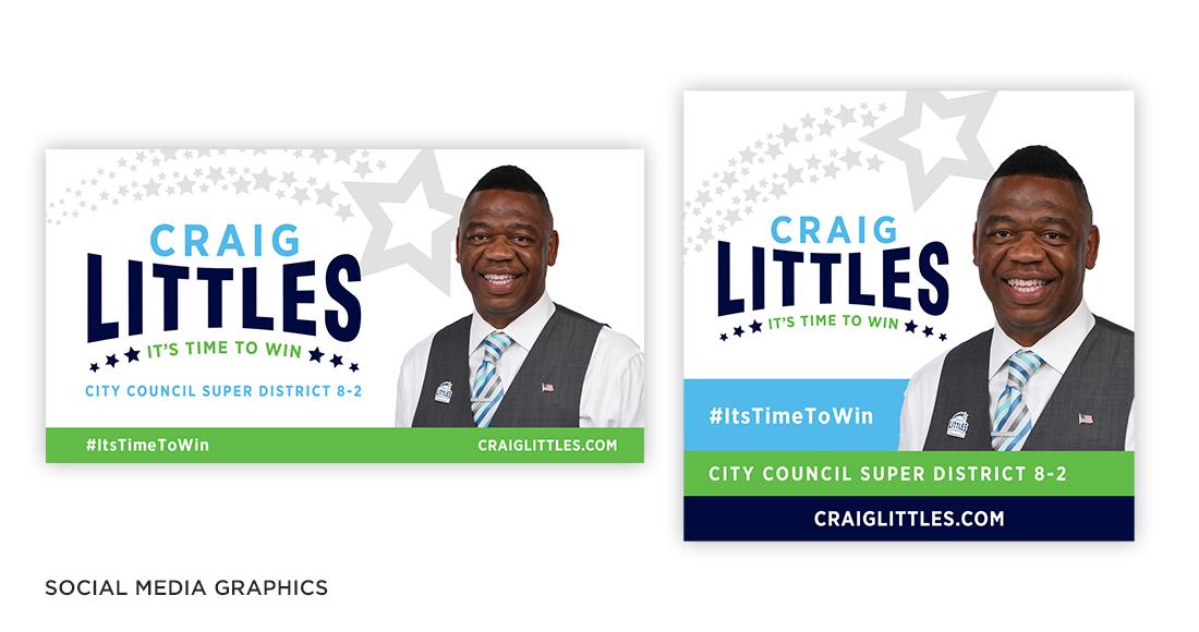 Craig Littles Campaign Social Media Graphics