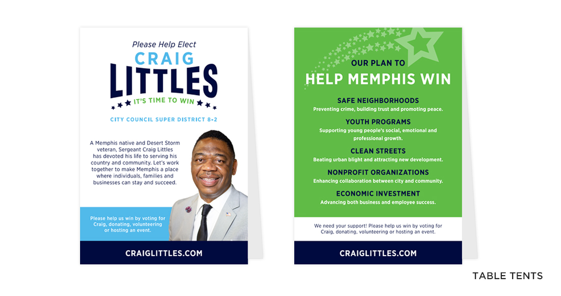 Craig Littles Campaign Table Tents
