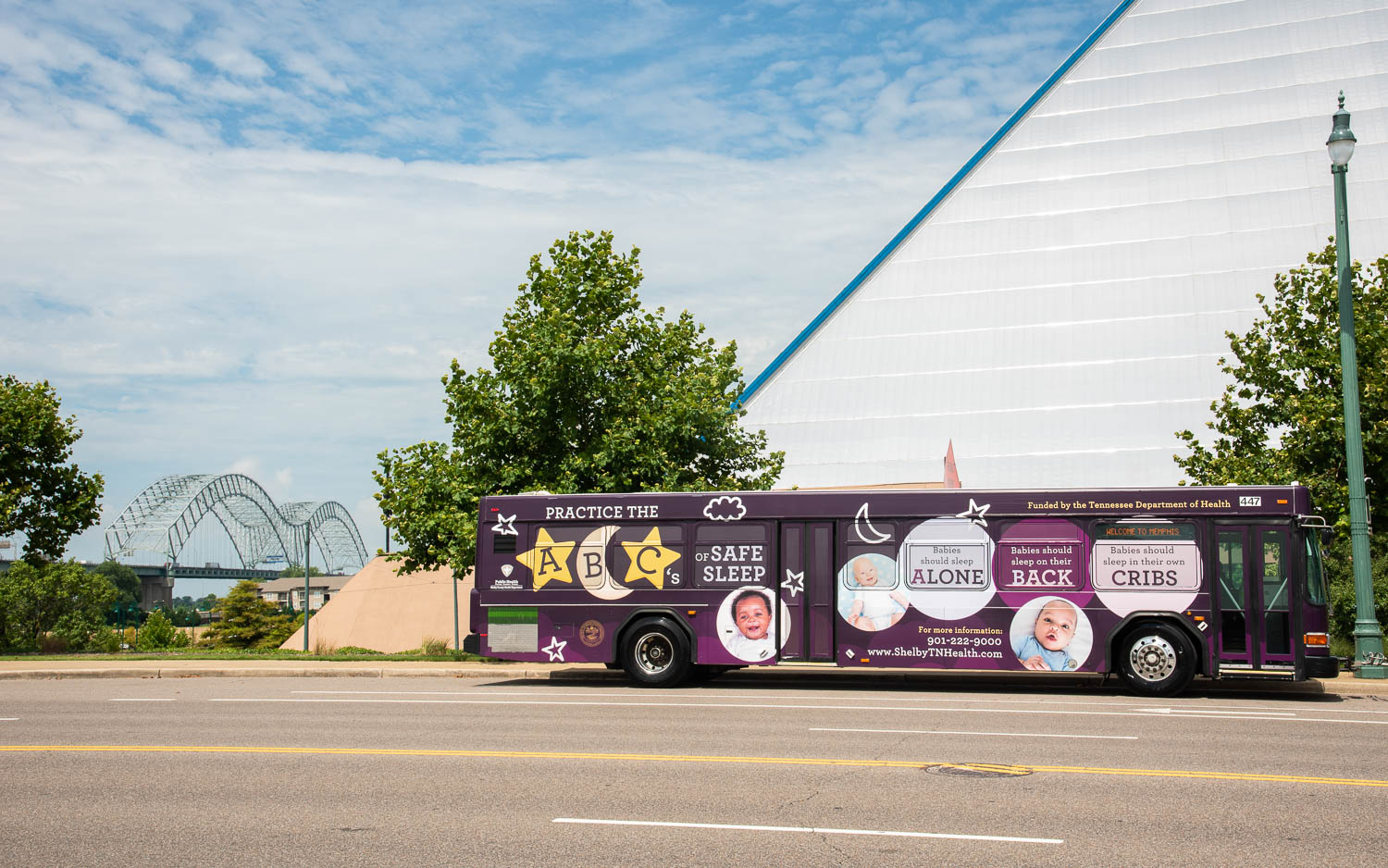 Shelby County Health Department: ABC's of Safe Sleep Bus Wrap